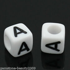Wholesale Lots DIY Jewelry Acrylic Spacer Beads Carved A Cube White 6mmx6mm