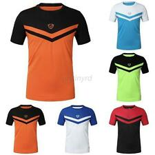 Mens Summer Sport T-shirt Fit Quick Dry Cycling Bicycle Clothing Top Tee Shirt