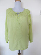 Tunic Style Smock Top Long Sleeve Ladies Size 14-42 Lime Green