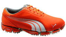Puma Super Cell Fusion Ice LE Outdoor Mens Golf Shoes Orange 186094 03 WH