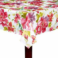 """Assorted Sizes """"Pink Fiona"""" Red Pink Purple Floral Fabric Tablecloth FREE SHIP"""