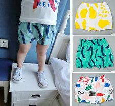 Baby Girl Boy Unisex Cotton Printing Pants Bloomers Shorts Diaper Cover 0-24M