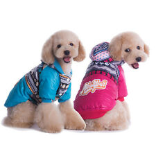 Trendy Warm Small Dog Pet Jacket Coat Clothes Hoodie Jumpsuit Winter Warmer cute