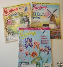 3 Painting TOLE PAINTING MAGAZINES BOOKS  April  2001, 2002, 2003   SPRING MINT