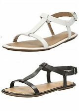 LADIES CLARKS LEATHER SANDAL AVAILABLE IN BLACK & WHITE STYLE - RISI HOP D FIT