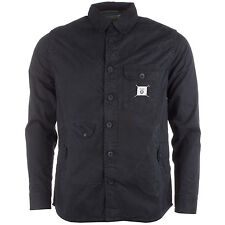 Fly53 Men&Apos;S Button Fastening Shirt In Black From Get The Label
