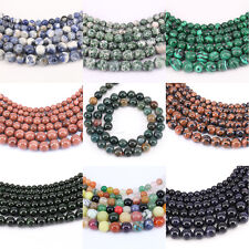 """1 Bunch 39.5cm/15"""" Gemstone Round Loose Spacer Beads Stone Beads 4/6/8/10/12mm"""
