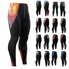 Fixgear Mens Womens Tights Compression Pants Running Gym Base Layer  S~4XL