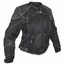 NextGen Women's Waterproof black Mesh Motorcycle Jacket w/removeable armor 2199