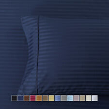Amazing Comfort Pillowcases 300 Thread Count Striped Combed Cotton (Pair)
