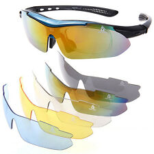 Polarized Cycling Glasses Goggles Bike/Bicycle Sports Eyewear Sunglasses 5 Lens