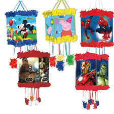 Character PULL STRING PINATA & Blindfold Mask (Birthday/Party Games) {Playwrite}
