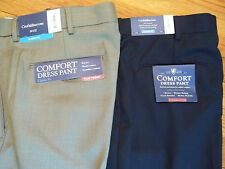 NWT,  $65. MSRP, Mens Croft & Barrow Comfort Flat Front Classic Fit Dress Pants