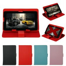 """Universal Adjustable PU Leather Stand Case Cover For Android Tablet 10"""" 9"""" 7"""" US"""