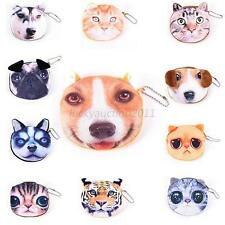 Women Dog Animal Face Pattern Shoulder Bags Purse Crossbody Bag Handbag Satchel
