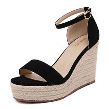 Women's Summer Fashion Sweet High-heeled Shoes Slipsole Open Toes Sandals W151