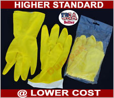 48 Pairs Household Rubber Latex Multi Purpose Yellow Gloves Small, M, L or XL.