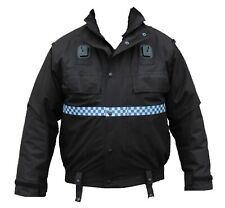 Ex Police Black Waterproof  Bomber Jacket Blouson Security Dog Handler