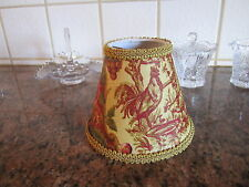 Waverly Saison Printemps Rooster Gold French Country Toile Lamp Shade Chandelier