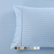 Set of Pillowcases Striped 650 Thread Count  Combed-Cotton-Blend Wrinkle-Free