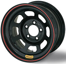 "Bassett Wheels 47SN2 Black Lightweight D-Hole Wheel Size: 14"" x 7"""