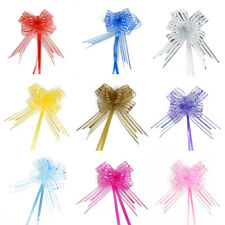Wedding Party Gift Wrapping Ribbon Pull Bows Decoration 5cm Width 10pcs