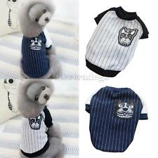 Stripe T-shirt Pets Puppy Dogs Cats Cotton Clothes Apparel Costume Range PICK