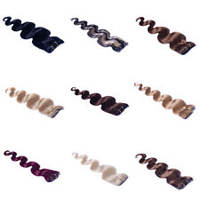 """Lot Womens Cheap Price 22"""" Remy Human Hair Extensions Clip In Wavy Hair 75g"""