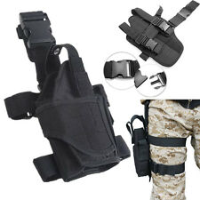 Adjustable Tactical Pistol Gun Drop Puttee Right Leg Thigh Holster Pouch Holder