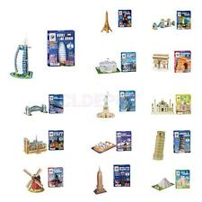 3D Paper Puzzle No Glue Jigsaw Assembly DIY Architecture Model Gift Toy Decor