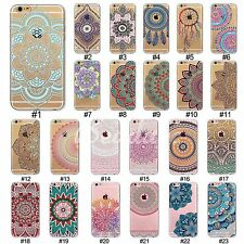 New TPU Colorful Hollow Pattern Printed Case Cover For iPhone SE 4 5 5C 6S Plus