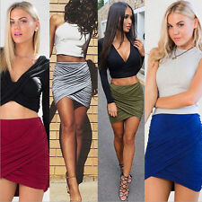 NEW Sexy Womens Formal Stretch High Waist Short Bodycon Mini Skirt Pencil Dress