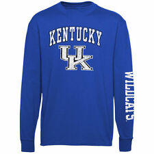 Kentucky Wildcats Youth Royal Blue Distressed Arch & Logo Long Sleeve T-Shirt