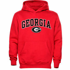 Georgia Bulldogs Youth Red Midsized Pullover Hoodie