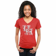 Houston Cougars Female Red Classic Primary Tri-Blend V-Neck T-Shirt