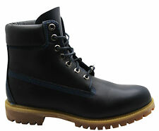 Timberland AF 6 Inch Prem Mens Boots Navy Blue Leather Lace Up Casual 6557A WHC