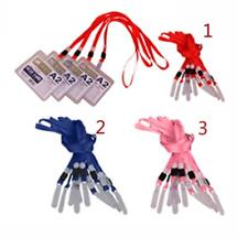 10x Lanyard ID Badge Holder Neck Strap Keychain String With No Twist PVC Hook
