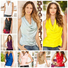 Vogue Women Loose Vest Top Sleeveless Blouse Solid Casual Tank Tops T-Shirts