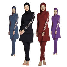 Summer Modesty Muslim Swimwear Swimsuit Full Cover Islamic Beachwear Swimming
