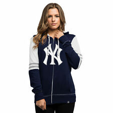 Majestic New York Yankees Women's Navy Big Time Attitude Full-Zip Hoodie