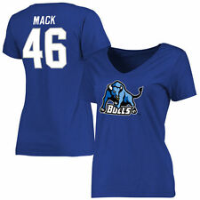 Khalil Mack Buffalo Bulls Women's Royal Name & Number Slim Fit T-Shirt