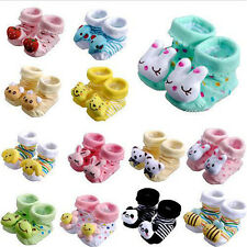 Cartoon Newborn Baby Girls Boys Anti-slip Socks Slipper Shoes Boots 0-6 Months
