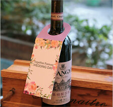 Wedding Day Wedding Favour Gift Tag Labels Card F. Alcohol Spirit Wine Bottles