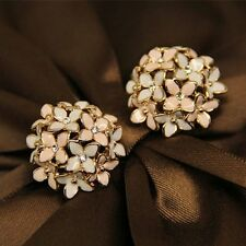 Fashion 1 pair Women Lady Clover Flower Crystal Rhinestone Ear Stud Earrings Hot