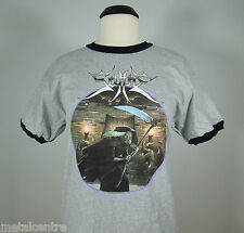 SCYTHE Beware The Scythe! Graphic Gray Ringer Band Shirt (R.I.P. Records) (NEW)