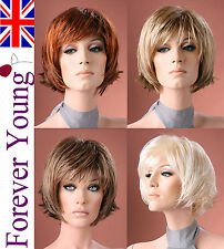 Forever Young Short Full Wig Blonde Black Brown Wig Bob Boycut Fashion Wigs