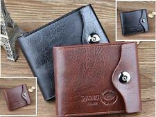 New Fashion Men Leather Bifold ID Cards Holder Coin Pocket Bag Slim Purse Wallet