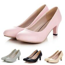 Party Bridal Kitten heel Fashion Court pumps ladies office mid heel Shoes Size
