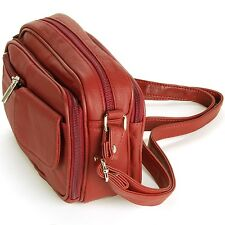 Womens Leather Organizer Purse Shoulder Bag Handbag Cross Body Bag Large Clutch