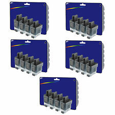 20 Black Compatible Printer Ink Cartridges for Brother LC41 / LC900 Range
